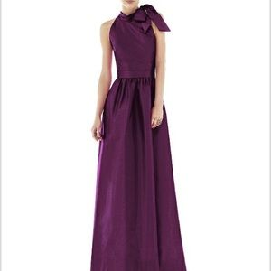 Alfred Sung D535 Bridesmaid Dress (Italian Plum)